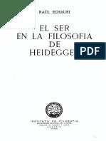 Echauri, Raul - El Ser en La Filosofía de Heidegger.pdf