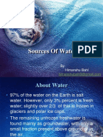 source of water