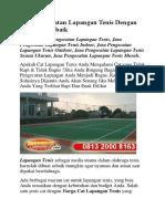 Jasa Pengecatan Lapangan Tenis Dengan Kualitas