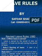 Leave Rules (Present)