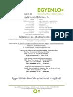 ügyfélfogadási plakát