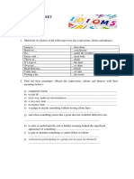 Worksheet Idioms