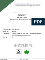 APA107 RGB LED Datasheet