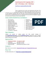 International Journal on Soft Computing (IJSC)