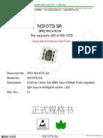 NS107S-SA RGB Pixel LED datasheet