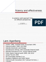 Auditing Efficiency and Effectiveness