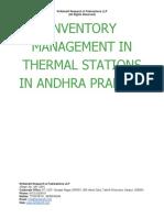 Inventory Management in Thermal Stations in Andhra Pradesh [www.writekraft.com]
