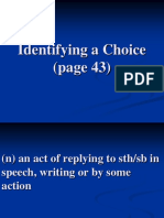 4. Vocab. for Identifying a Choice (Page 43)