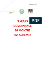 telangana governemtn 36 months and schemes