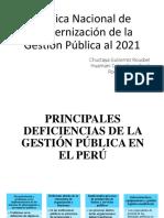 Principales Deficiencias de La Gestión Pública