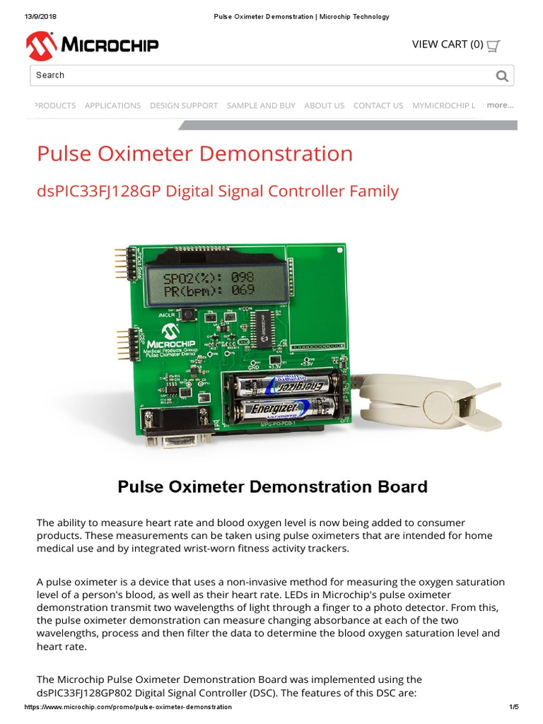 Pulse Oximeter Microchip | Analog To Digital Converter