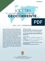 Boletim Geocorrente Nr 72 11MAI2018