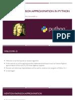 Newton Raphson Approximation on Python