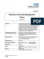 Business Continuity Management Policy V3