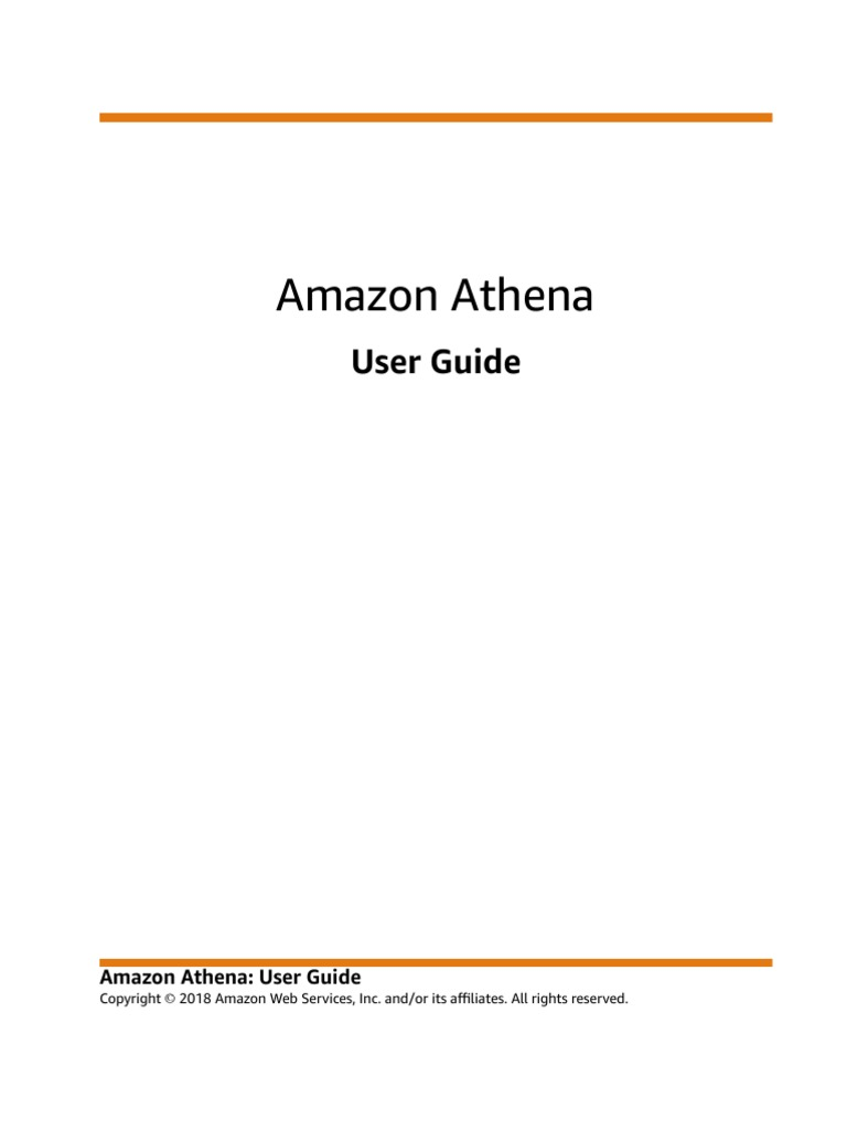 Athena User Guide | Databases | Metadata