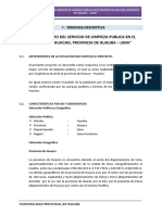 1. Memoria Descriptiva Limpieza Publica Huacho