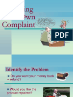 Handling Your Own Complaint