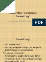 Unimus Interpretasi Pemeriksaan   Hematologi(1).pptx