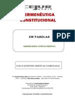 HERMENÊUTICA CONSTITUCIONAL EM TABELAS