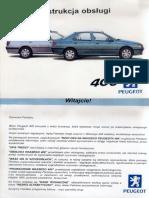 Peugeot 406 D9 Instrukcja Obsługi