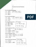 Stoichiometry Problem Set ANSWERS