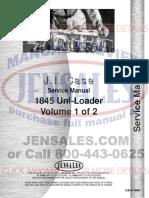 Case 1845 Uniloader Service Manual