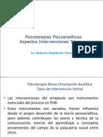 Clase 11 Intervenciones tecnicas Psicoterapia Psicoanalitica 2017.pptx