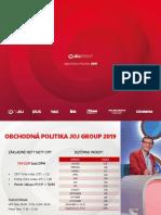 Obchodná politika JOJ Group 2019