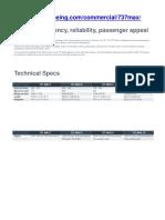 Boeing 737 max spesification