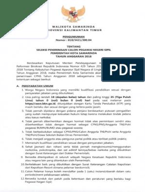 280047736cpns Kota Samarinda 2018pdf