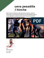 Una Nueva Pesadilla Para El Hincha