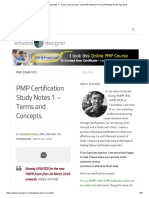 PMP Certification Study Notes 1 - Terms and Concepts - New PMP, PMI-ACP, ITIL & PRINCE2 Exam Tips 2018
