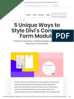 5 Unique Ways to Style Divi's Contact Form Module _ Elegant Themes Blog