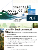 Environmental Effects of land filling
