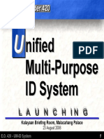 UM-ID System Launching at Malacanang (23Aug06)