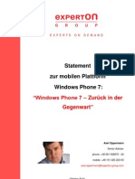 Windows Phone 7 - Zurück in der Gegenwart