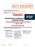 Reminder for w 13th Road