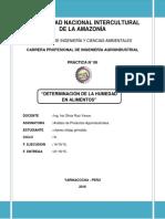 DETERMINACION DE HUMEDAD N°06