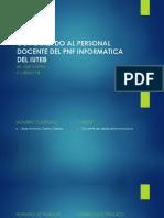 Conociendo Al Personal Docente Del Pnf Informatica Del