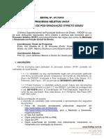 Edital de Processo Seletivo 2019 1 n 0172018 Mestrado e Doutorado2