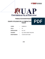 Trabajo de Investigacion - Equipo Para Compactacion Obras Viales - Uap -2018