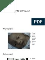 JENIS KEJANG