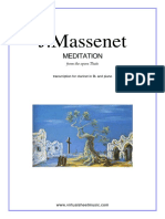 298678518 j Massenet Meditation From Thais for Clarinet Piano