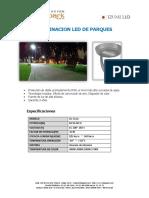 Iluminación Led en Parques