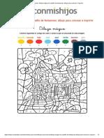 Imprimir_ Dibujo Mágico de Castillo de Fantasmas_ Dibujo Para Colorear e Imprimir