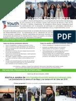 Youth Ambassadors-Información 2018
