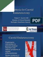 Anesthesia for Carotid Endarterectomy