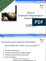 TEMA 2 Historia Clinica Cirugía Podológica