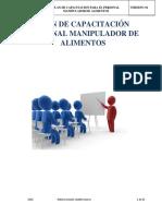 Plan Capacitación Manipuladores modelo documental