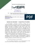 Advento da Liberdade - Proudhon - BPI.doc
